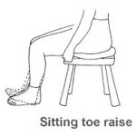 Sitting toe raise